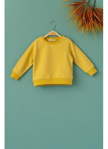 Cigit Be Kind Nakışlı Sweatshirt Hardal